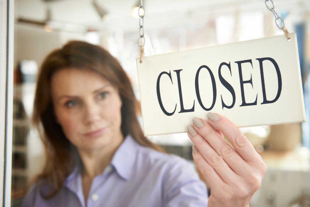 Cientos de razones por las que cerrar un negocio